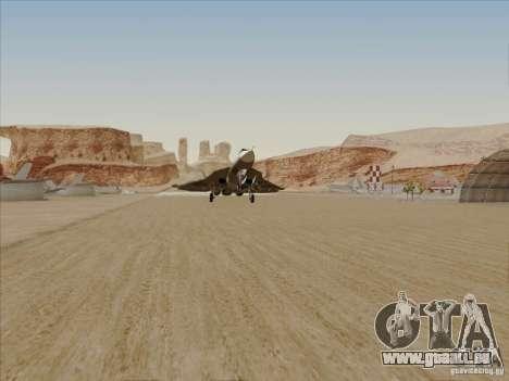 T-50 Pak Fa für GTA San Andreas obere Ansicht