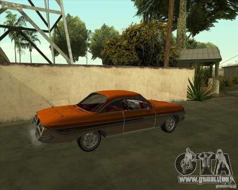 Chevrolet Impala SS 1961 pour GTA San Andreas laissé vue