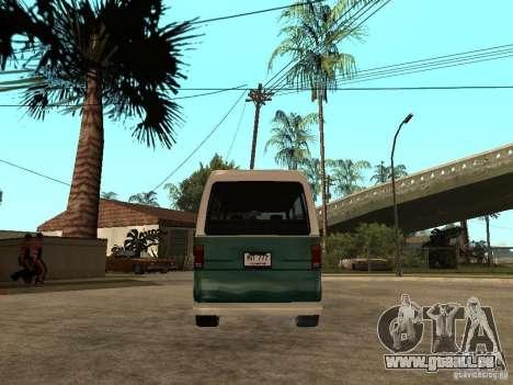 VW T1 Samba pour GTA San Andreas sur la vue arrière gauche