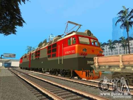 Vl80m-1785, chemins de fer russes pour GTA San Andreas sur la vue arrière gauche