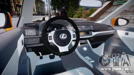 Lexus CT200h 2011 pour GTA 4 est un droit