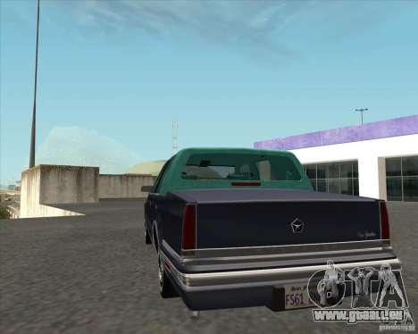 Chrysler New Yorker 1988 für GTA San Andreas zurück linke Ansicht