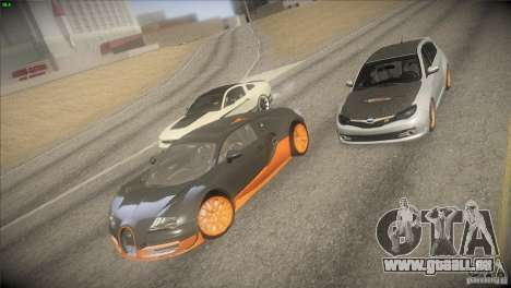 Bugatti Veyron Super Sport für GTA San Andreas obere Ansicht