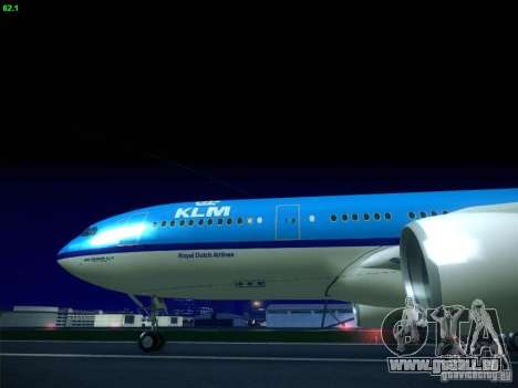 Airbus A330-200 KLM Royal Dutch Airlines pour GTA San Andreas vue de droite