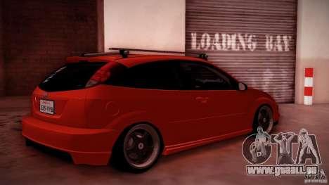 Ford Focus SVT Clean pour GTA San Andreas vue intérieure