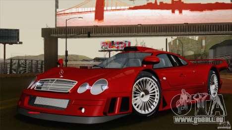 Mercedes-Benz CLK GTR Race Road Version Stock für GTA San Andreas Unteransicht