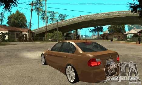 BMW E90 M3 pour GTA San Andreas sur la vue arrière gauche