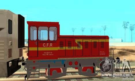 Locomotive LDH 18 pour GTA San Andreas sur la vue arrière gauche