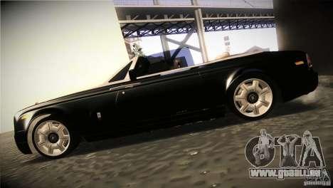 Rolls Royce Phantom Drophead Coupe 2007 V1.0 pour GTA San Andreas laissé vue