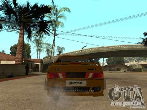VAZ 2115 Tuning de voiture de Police pour GTA San Andreas sur la vue arrière gauche