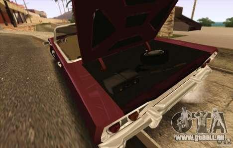 Savanna Detroit 1965 ( v. 2 ) pour GTA San Andreas vue de droite