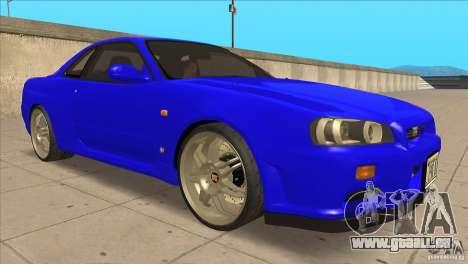 Nissan Skyline R34 FNF4 pour GTA San Andreas vue arrière