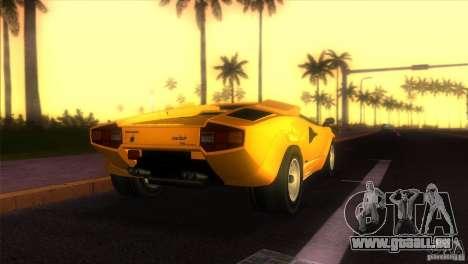 Lamborghini Countach pour une vue GTA Vice City de la gauche