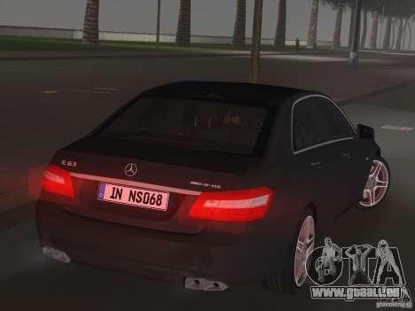 Mercedes-Benz E63 AMG für GTA Vice City Rückansicht