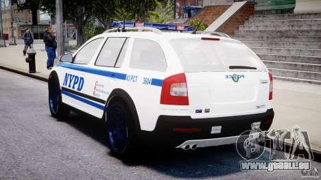 Skoda Octavia Scout NYPD [ELS] pour GTA 4 vue de dessus
