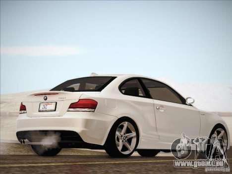 BMW 135i für GTA San Andreas zurück linke Ansicht