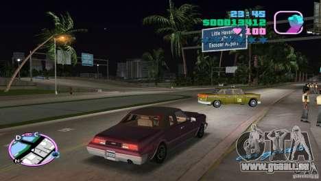 Idaho HD pour GTA Vice City sur la vue arrière gauche