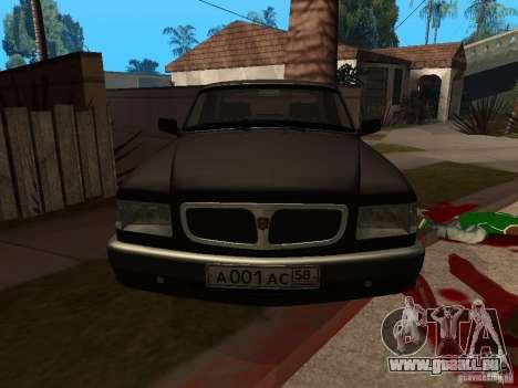 Volga GAZ 3110 für GTA San Andreas rechten Ansicht