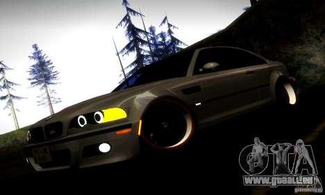 BMW M3 JDM Tuning pour GTA San Andreas vue de dessous