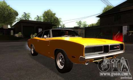 Dodge Charger RT 1969 für GTA San Andreas Rückansicht