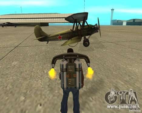 An-2 für GTA San Andreas Rückansicht