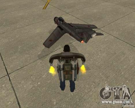 MIG 15 URSS pour GTA San Andreas laissé vue