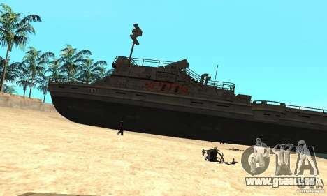 Bateau pour GTA San Andreas laissé vue