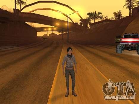 FaryCry 3 Liza Snow pour GTA San Andreas troisième écran
