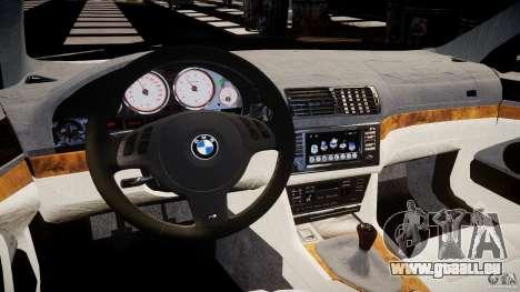 BMW M5 E39 Stock 2003 v3.0 pour GTA 4 Vue arrière