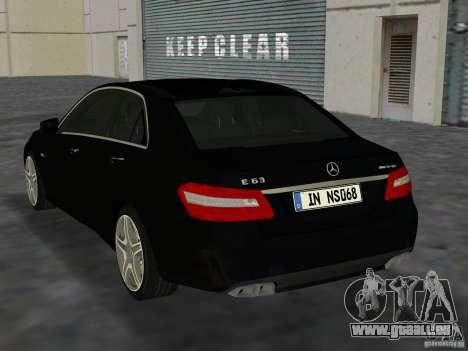 Mercedes-Benz E63 AMG für GTA Vice City rechten Ansicht