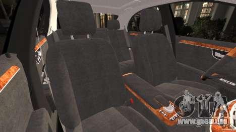 Mercedes-Benz S W221 Wald Black Bison Edition pour GTA 4 est une vue de l'intérieur