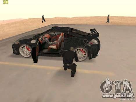 Mitsubishi Eclipse GT NFS-MW pour GTA San Andreas vue intérieure