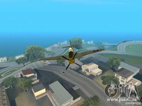 P-51 Mustang pour GTA San Andreas vue arrière