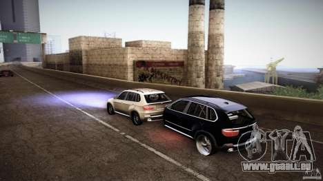 BMW X5 with Wagon BEAM Tuning für GTA San Andreas zurück linke Ansicht