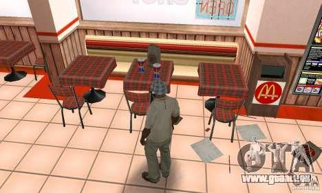 Restaurants McDonals für GTA San Andreas her Screenshot
