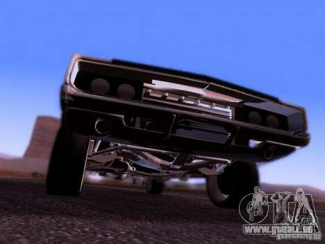 Dodge Charger 1970 Fast Five für GTA San Andreas Rückansicht