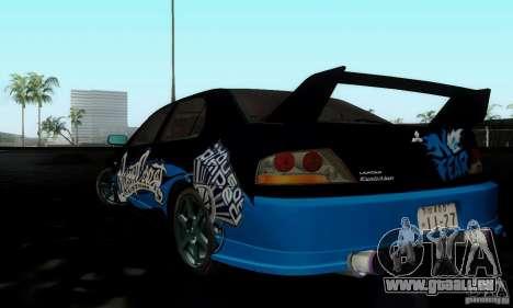 Mitsubishi Lancer Evolution IX pour GTA San Andreas vue intérieure