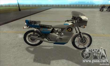 Kawasaki KZ1000 MFP für GTA San Andreas linke Ansicht