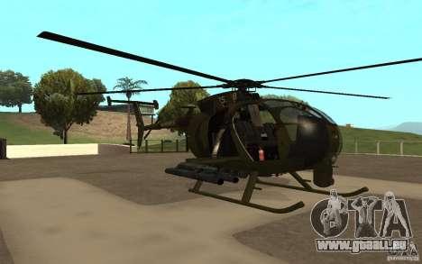 AH 6 pour GTA San Andreas laissé vue