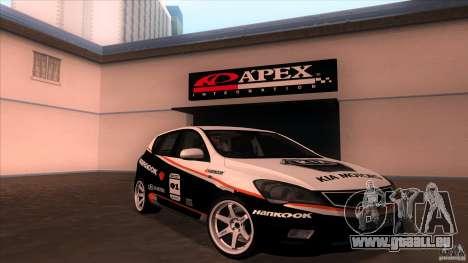 Kia Ceed 2011 pour GTA San Andreas vue intérieure