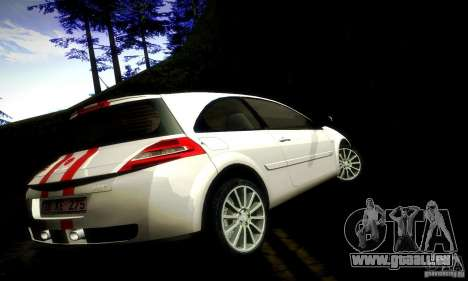 Renault Megane Coupe 2008 TR für GTA San Andreas obere Ansicht