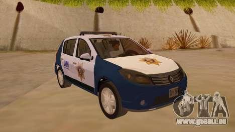 Renault Sandero Police LV pour GTA San Andreas vue arrière