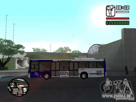 Busscar Urbanuss Ecoss MB 0500U Sambaiba pour GTA San Andreas laissé vue