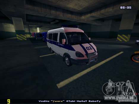 Gazelle 2705 Polizei für GTA San Andreas