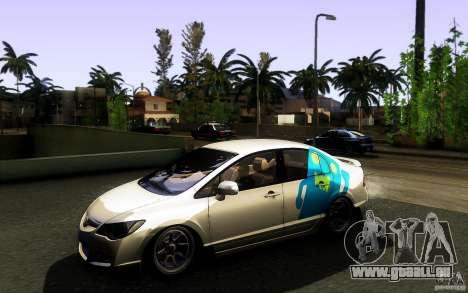 Honda Civic FD BlueKun pour GTA San Andreas vue de côté