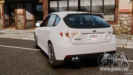 Subaru Impreza Cosworth STI CS400 2010 v1.2 pour GTA 4 Vue arrière de la gauche
