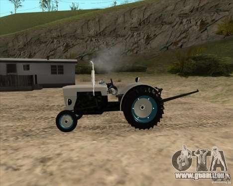 Tracteur pour GTA San Andreas laissé vue