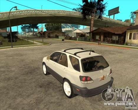 Lexus RX300 pour GTA San Andreas laissé vue