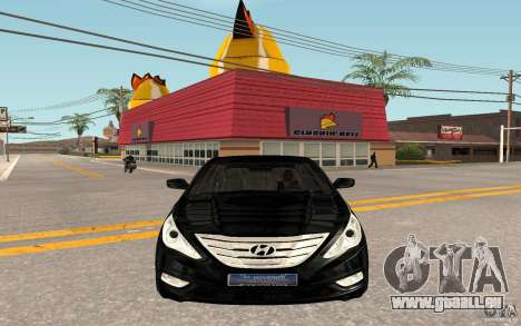 Hyundai Sonata 2012 pour GTA San Andreas laissé vue