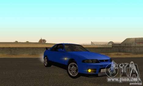 Nissan Skyline GT-R R-33 v2.0 pour GTA San Andreas vue arrière
